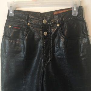 Lawman faux leather  jeans  black size 3